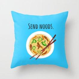Send noods. Chow mein noodle art. Throw Pillow