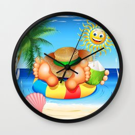 Summer Relax on the Sea Wall Clock