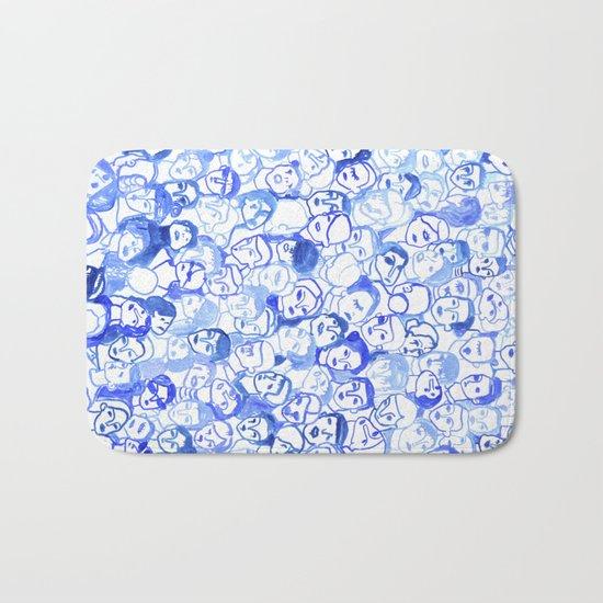 Blue velvet Bath Mat
