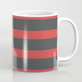 Red Stripes on Gray Background Coffee Mug