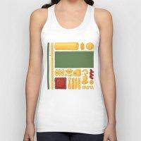 mondrian Tank Tops featuring Pasta Mondrian by Chayground