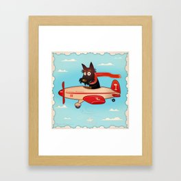 Groovy pilot Framed Art Print