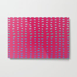 Fiesta at Festival - Raspberry & Turquoise Metal Print