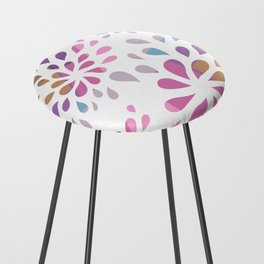 Colourful drops Counter Stool