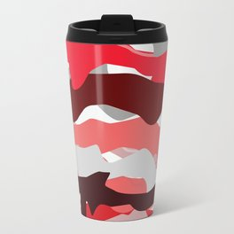 red lines Travel Mug