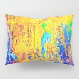 Imaginäre Landschaft - Ölgemälde auf Leinwand Pillow Sham