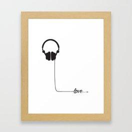 For the love of music 2.0 Framed Art Print