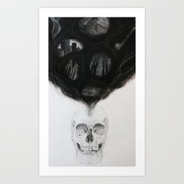 SKULL | The Persistence of Memory Art Print