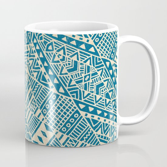 Tribal (blue)  Mug
