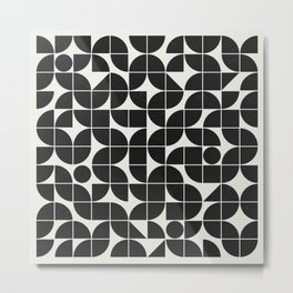 Mid Century Geometry Metal Print