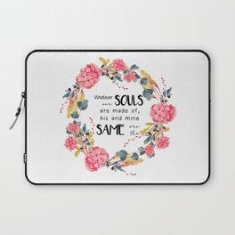 Romantic Emily Bronte Quote Laptop Sleeve