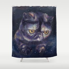Lord Pizza Smoosh Shower Curtain
