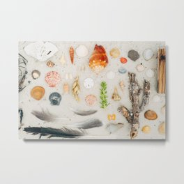 Seashore Flat Lay Metal Print