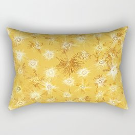 Frenetic Fireflies in the Desert Abstract Rectangular Pillow
