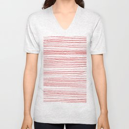 just some red lines Unisex V-Neck