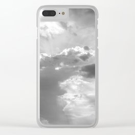 Very cloudy sky after a storm along the coast of the Adriatic sea in spring Clear iPhone Case