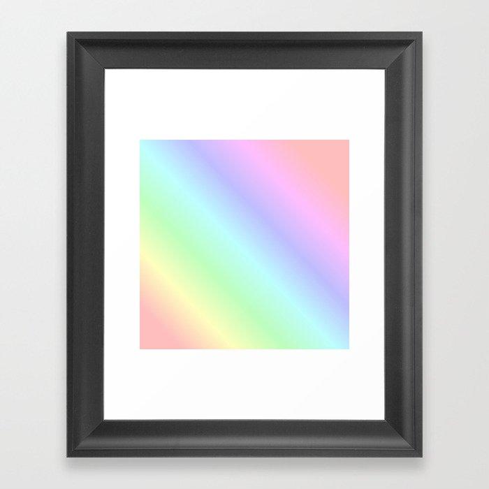 Pastel rainbow Gerahmter Kunstdruck