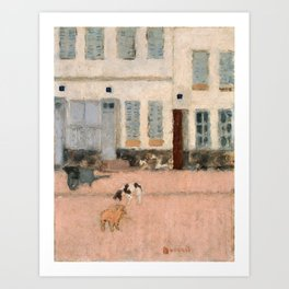 Pierre Bonnard - Two Dogs In A Deserted Street - Digital Remastered Edition Art Print