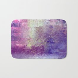 Abstract in Purples and Green Bath Mat