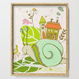 Gayle the Snail Serving Tray