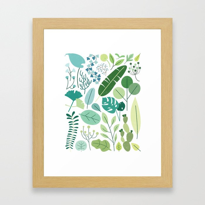 Botanical Chart Framed Art Print