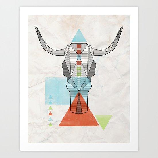 COW GEO Art Print