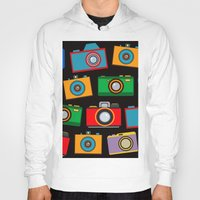 cameras Hoodies featuring colourful cameras by vitamin
