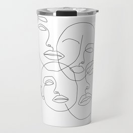 Messy Faces Travel Mug