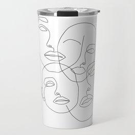 Messy Faces Travel Mug