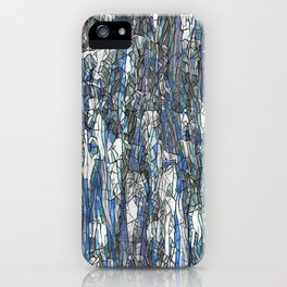 Abstract blue 2 iPhone Case