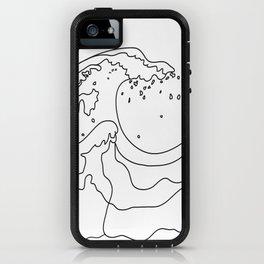 Minimal Line Art Ocean Waves iPhone Case