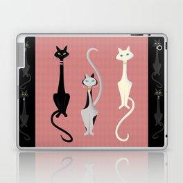 Midcentury Modern Sleek And Stylish Parisian Kitty Cat Trio Laptop & iPad Skin