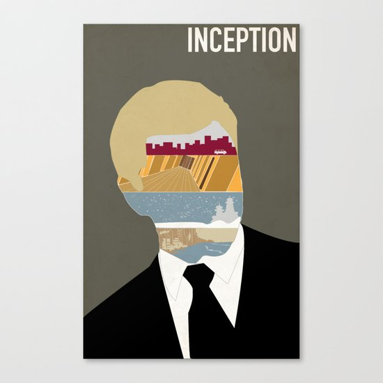 Inception minimalist poster Canvas Print