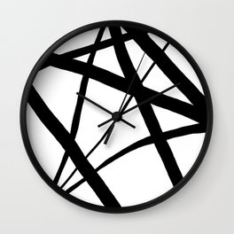 A Harmony of Lines and Shapes Wall Clock