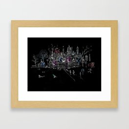 London Soho Madness Framed Art Print