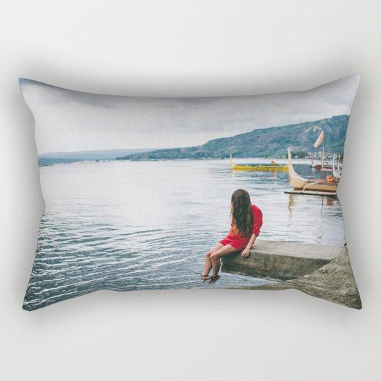 Creepy girl Rectangular Pillow