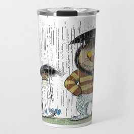 Where the totoro live color Travel Mug