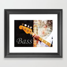 Bass Guitar neck , musical instrument  Framed Art Print