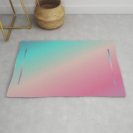 Bright Ombre Rainbow Colors Rug