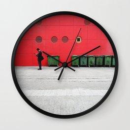 Red Hong Kong Wall Clock