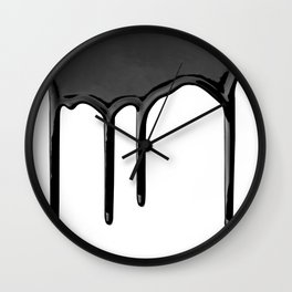 Black paint drip Wall Clock