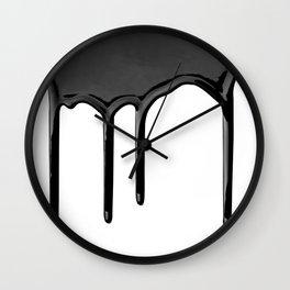 Black paint drip Wall Clock