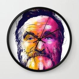Robin Williams Tribute Digital Fan Art Illustration Wall Clock
