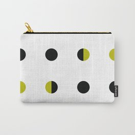 Black and Gold circle Carry-All Pouch