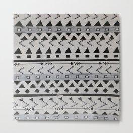 Gray Lines Metal Print