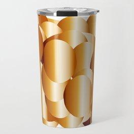 copper metal shield abstract geometrical art Travel Mug