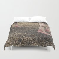"roller derby Duvet Covers featuring Kentucky ""Roller"" Derby  by Bells Design"