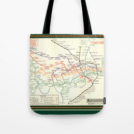 Vintage London Underground Map Tote Bag