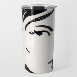 WOMAN SMOKING A CIGARETTE Travel Mug