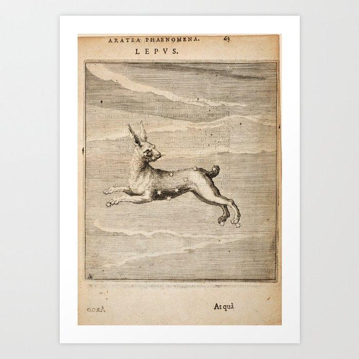 Hugo de Groot's Syntagma Arateorum 1600 - 29 Lepus Kunstdrucke